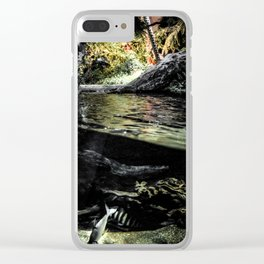 Worlds Divided Clear iPhone Case