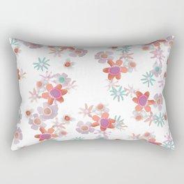 Bits of Flowers Rectangular Pillow