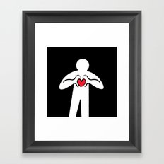 From Haring with Love Framed Art Print