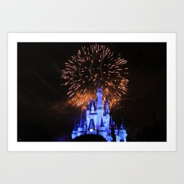 Castle Lights Art Print