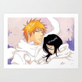 Bleach: Ichigo X Rukia Art Print