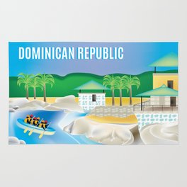 Dominican Republic - Skyline Illustration by Loose Petals Rug