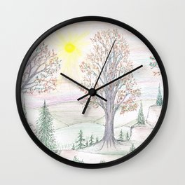 Paths to the Sunny Side Wall Clock