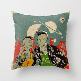 Alien Punks Throw Pillow