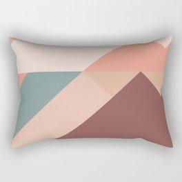 Geometric Mountains 01 Rectangular Pillow