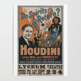 Houdini - vintage poster, spirits Poster