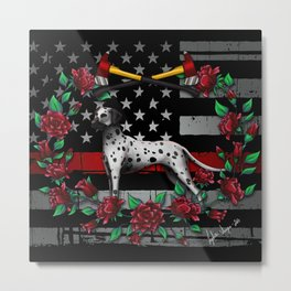 Thin Red Line USA Version Metal Print