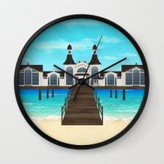 Seebrücke Sellin Wall Clock
