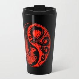 Red and Black Dragon Phoenix Yin Yang Travel Mug