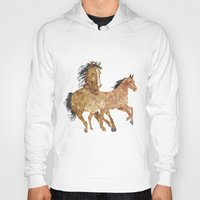 horses Hoodies featuring Horses by Stag Prints