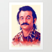 young avengers Art Prints featuring Young Mr. Bill Murray by Thubakabra