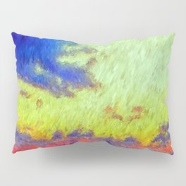 colorful sunset impressionist painting Pillow Sham