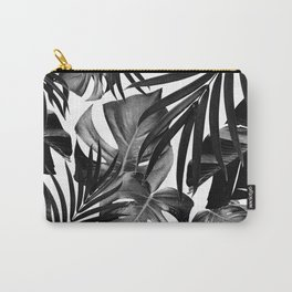 Tropical Jungle Leaves Pattern #10 #tropical #decor #art #society6 Carry-All Pouch
