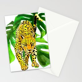 panther jungle Stationery Cards
