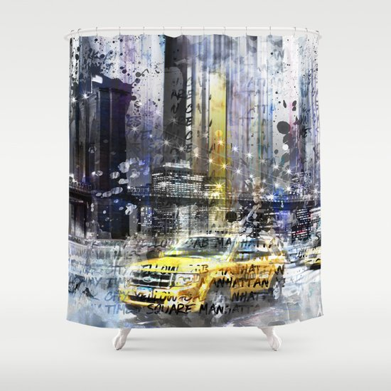 City-Art NYC Collage Shower Curtain