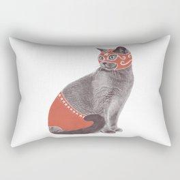 Cat Wrestler Rectangular Pillow