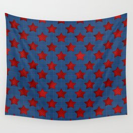 Abstract stars geometric retro seamless pattern background texture Wall Tapestry