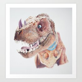 Bloodfen Raptor Dinosaur Art Print