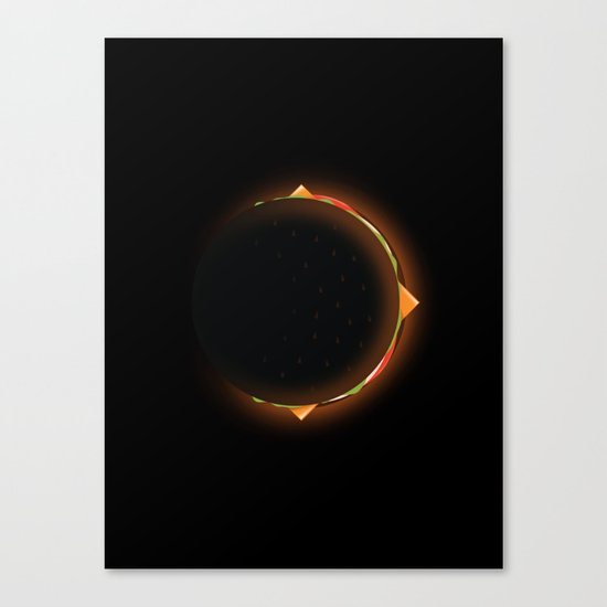 Burger Eclipse Canvas Print