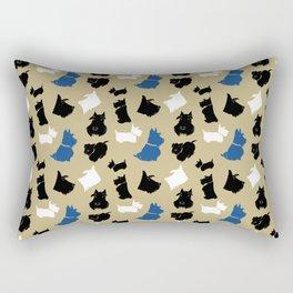 Scottish Terrier Pattern Rectangular Pillow