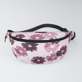 Pink and Plum Floral Pattern #decor #society6 Fanny Pack