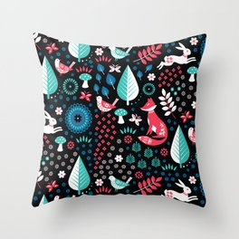 Electric Forest Throw Pillow