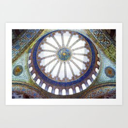 The Blue Mosque, Istanbul Art Print