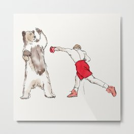 Not Your Average Punching Bag Metal Print