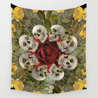 western Wall Tapestries featuring WESTERN SKULLS by Gloria Sanchez Artist