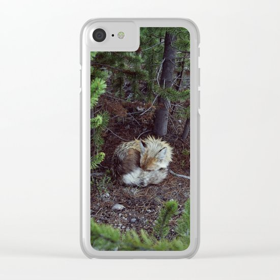 Sleeping Fox Clear iPhone Case