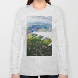 View through airplane porthole  Long Sleeve T-shirt