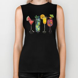Summer Cocktail Trio Biker Tank