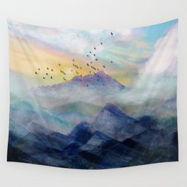 Mountain Sunrise Wall Tapestry