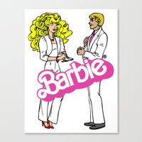 barbie Canvas Prints featuring Barbie by gamunev