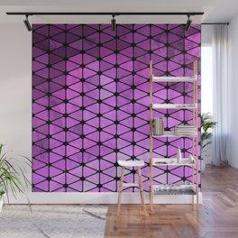 Purple Geometric Design Wall Mural