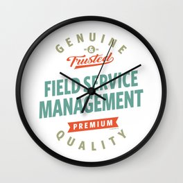 Field Service Management Wall Clock