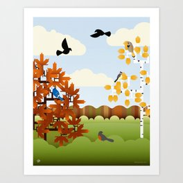 A Fine Autumnal Day Art Print