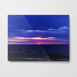 Dusk on the Sea Metal Print