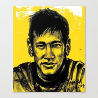 neymar Canvas Prints featuring Neymar by yamini