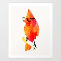 punk Art Prints featuring Punk bird by Robert Farkas