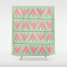 watermelon repeat Shower Curtain