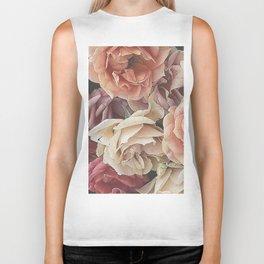 Great Garden Roses,peach Biker Tank