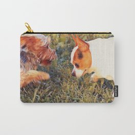 Yorkie and a Chihuahua Carry-All Pouch