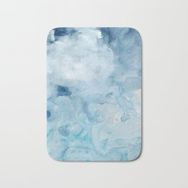 Number 72 Abstract Clouds Bath Mat