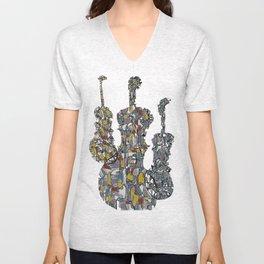 Three Fiddles Unisex V-Neck