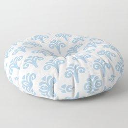 Floral Pattern Pale Blue 241 Floor Pillow