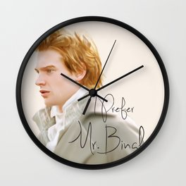 I Prefer Mr Bingley Wall Clock