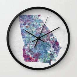 Georgia map Wall Clock