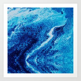 Psycho - Let the River Flow, Blue Ocean Themed Flow by annmariescreations Art Print