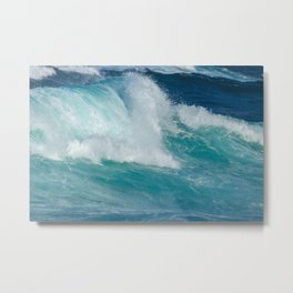 Wave breaking in the coast Metal Print